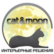 Cat moon black whight 3 cat moon small
