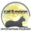 Cat moon black whight 3 cat moon small