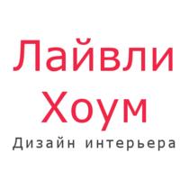 Logotip kvadratnyy studiya dizayna interiera lively home med