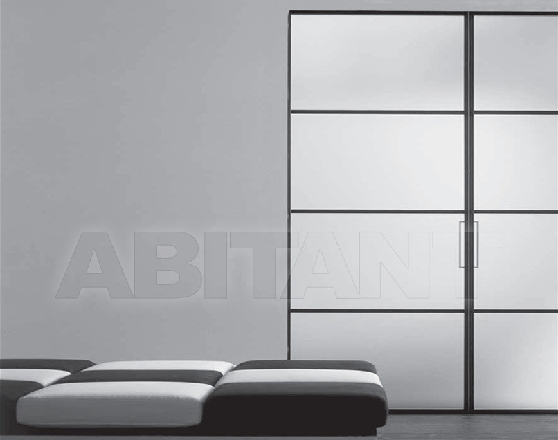 Купить Дверь  стеклянная Res Italia Doorscollection LUNA Sliding door into the wall2
