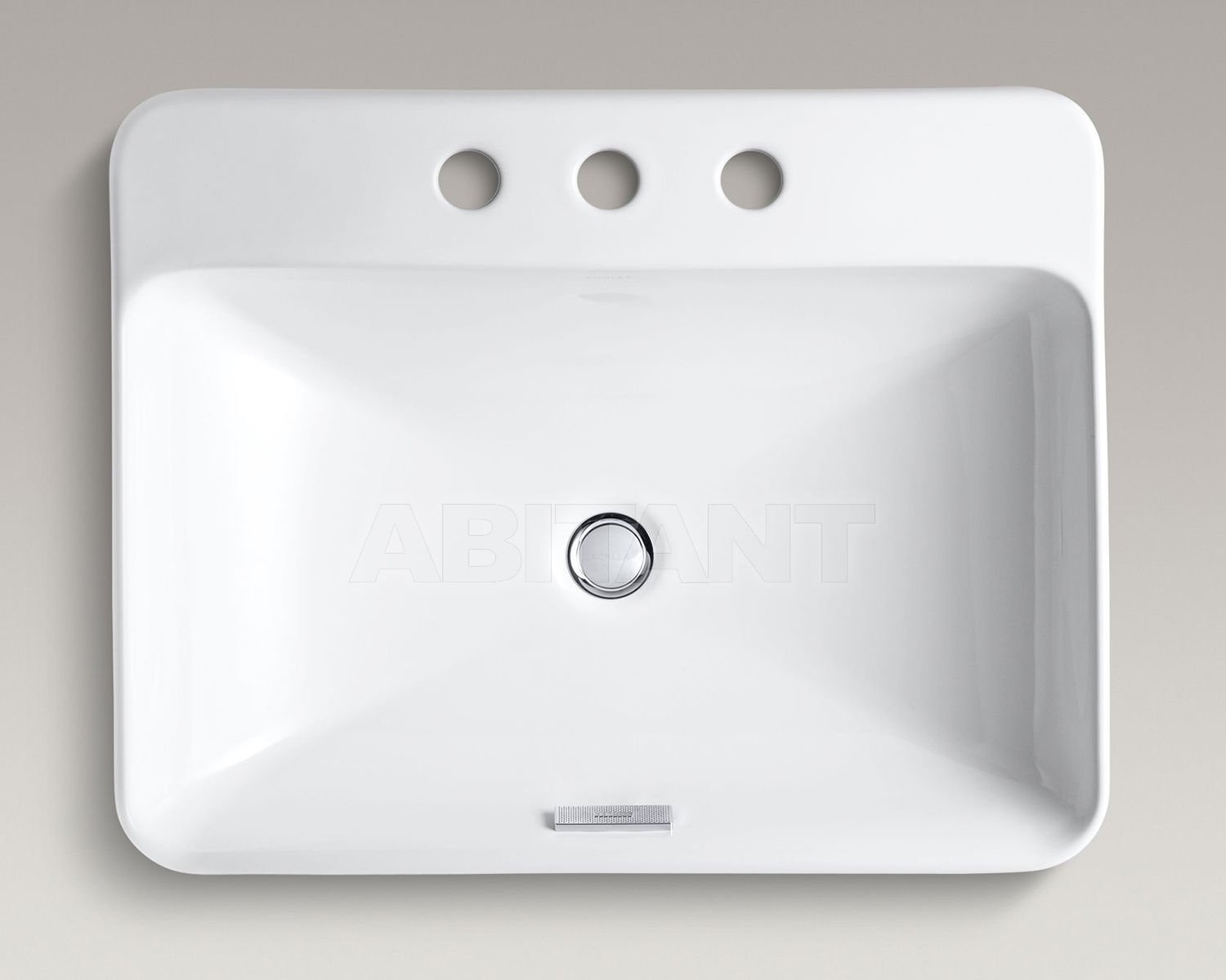 Раковина накладная Vox Rectangle белая Kohler K-2660-8-0 ...