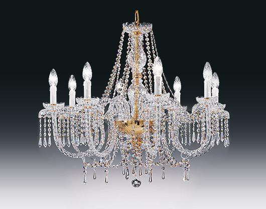 Купить Люстра Voltolina Classic Light srl Cristallo Alicante 8L