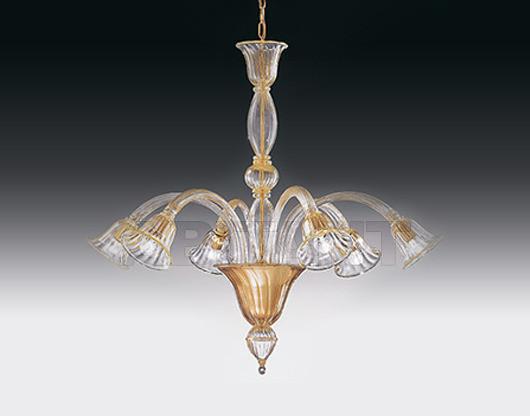 Купить Люстра Voltolina Classic Light srl Glam&glass Laguna 6L braccia verso il basso