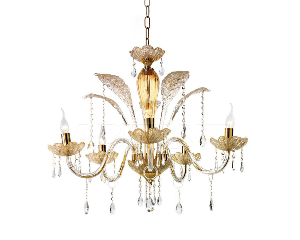 Купить Люстра Ciciriello Lampadari s.r.l. Lighting Collection GOCCIA ambra lampadario 5 luci