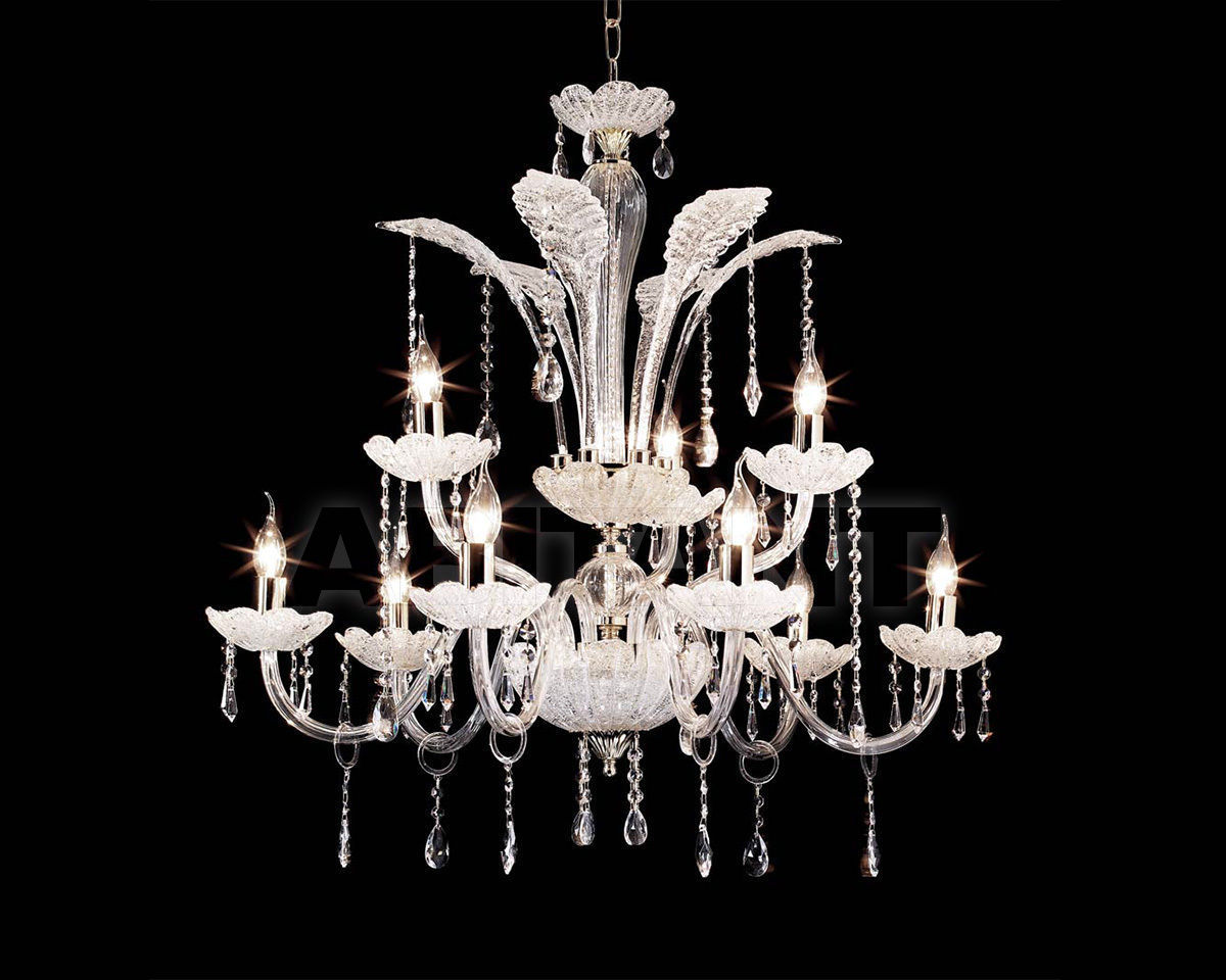Купить Люстра Ciciriello Lampadari s.r.l. Lighting Collection GOCCIA cristal lampadario 9 luci