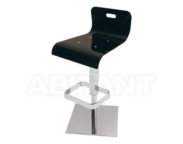 Барный стул светло серый di lazzaro plexy gas quadro sgabello