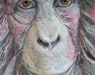 Панно Огненная обезьяна (красная отделка),