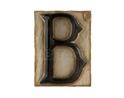 Панно Буква B (черно-белый)