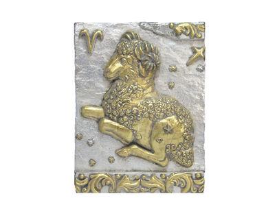 Панно Знак Зодиака ОВЕН (серебряно-золотой)