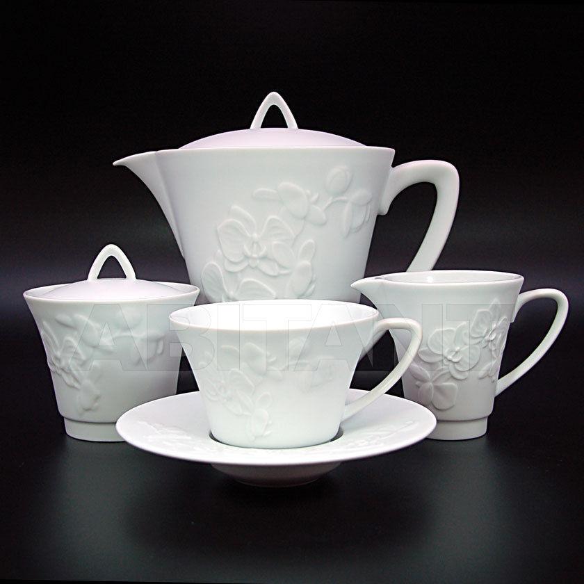 """Купить Сервиз чайный на 6 персон, 15 предметов, декор """"Фиджи велюр"""", Haviland Haviland Fidji"""