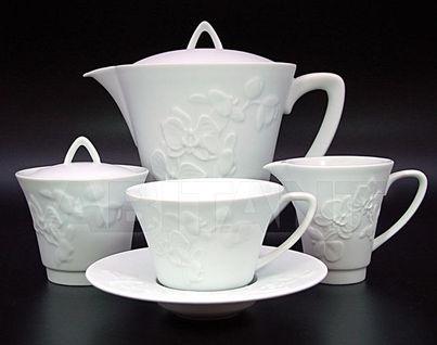 """Сервиз чайный на 6 персон, 15 предметов, декор """"Фиджи велюр"""", Haviland"""