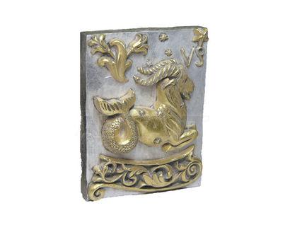 Панно Знак зодиака КОЗЕРОГ (серебряно-золотой)