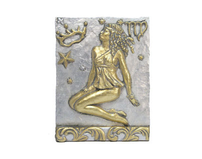 Панно Знак зодиака ДЕВА (серебряно-золотой)
