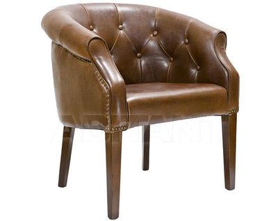 PJC347-PJ044 Кресло кожа c PU -коричневая 77х45х50