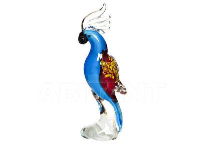 """F4937 Статуэтка""""Попугай"""" (голубая) 8,5*6*22,5"""
