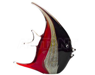 "F6138 Статуэтка""Рыба"" (красно-черная) 17,5*4*21"