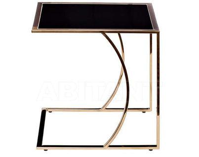 13RX5076M-GOLD Стол журнальный 45*40*44 черный/розовое золото