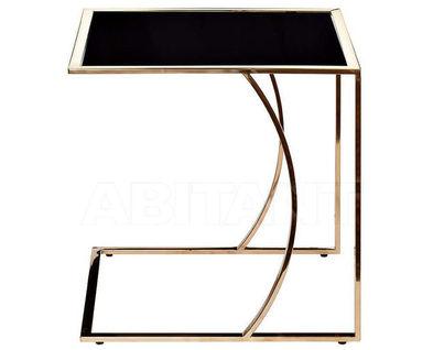 13RXNT5076L-GOLD Стол журнальный 50*45*49 черный/розовое золото