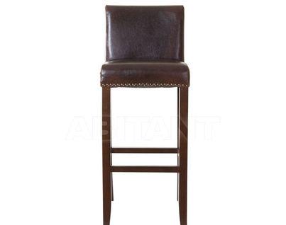 PJH045-PJ530 Стул барный,кожаный,коричневый, береза