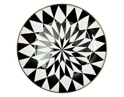 26FC VANITY PL20BL Тарелка десертная 20см, черно-белая (4)