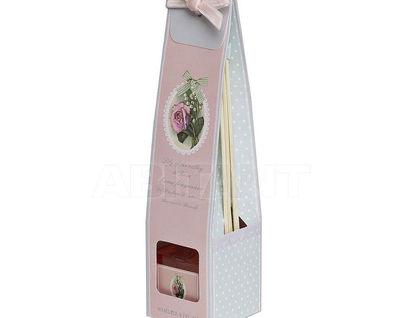 F15S-LR001 Набор подарочный с ароматом ландыша и розы 6*6*25 см