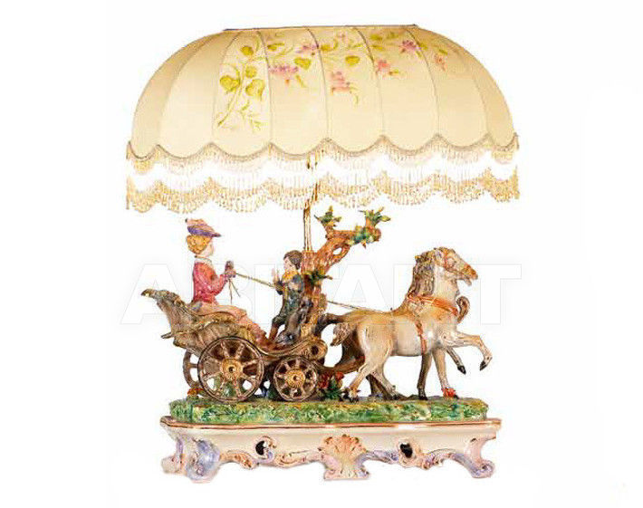 Купить Лампа настольная Ceramiche Lorenzon  Gruppi L.248/COL