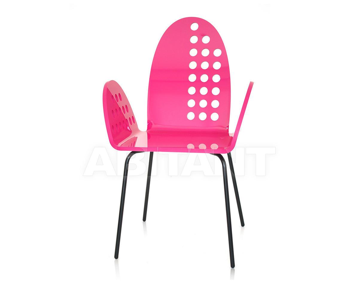 Купить Стул с подлокотниками Acrila Graph Line Cali rounded chair