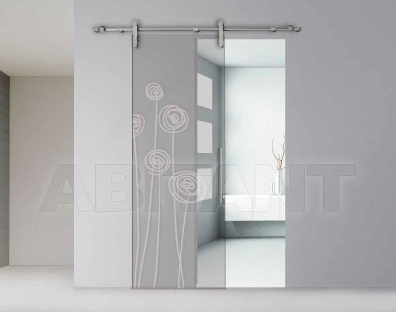 Купить Дверь  стеклянная Bertolotto Natura 3245 sabbiato scomparsa