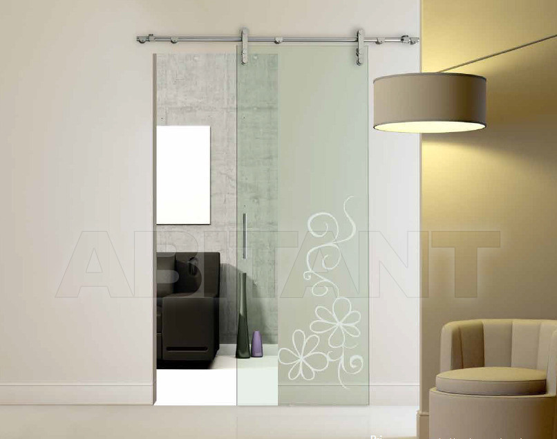 Купить Дверь  стеклянная Bertolotto Natura 3241 sabbiato scomparsa