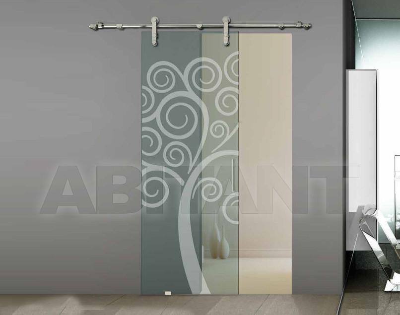 Купить Дверь  стеклянная Bertolotto Natura 3255 sabbiato scomparsa