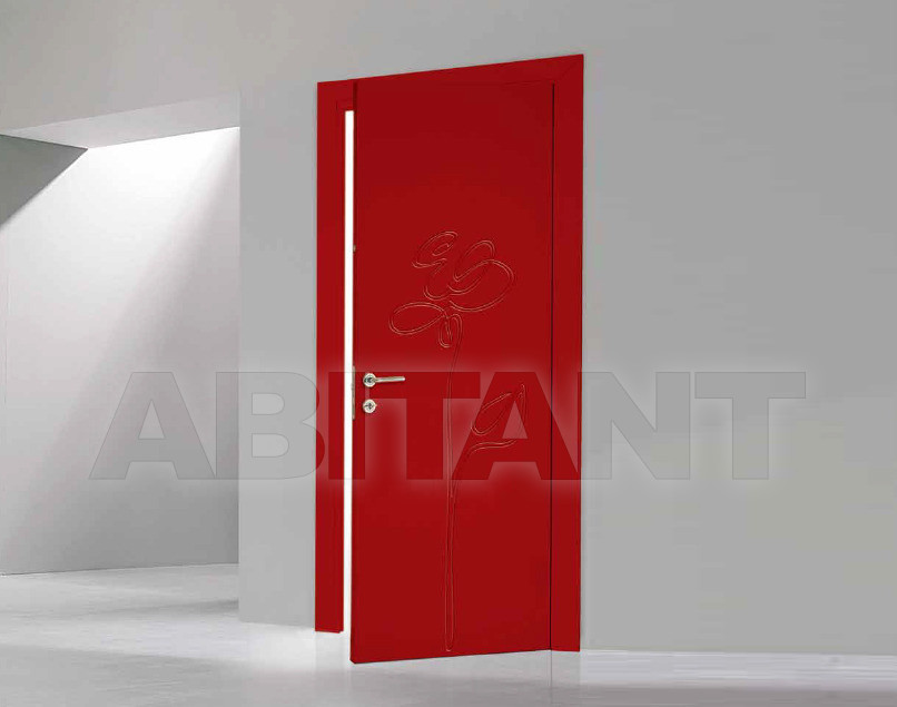 Купить Дверь деревянная Bertolotto Natura rosa incisa red