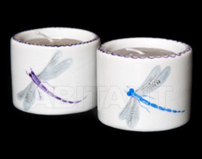Купить Подсвечник Ines de Nicolay Dragon Flies Pair of round candle-holders Dragon Flies