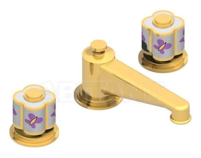 Купить Смеситель для раковины THG Bathroom A7D.151M Capucine mauve butterfly gold decor