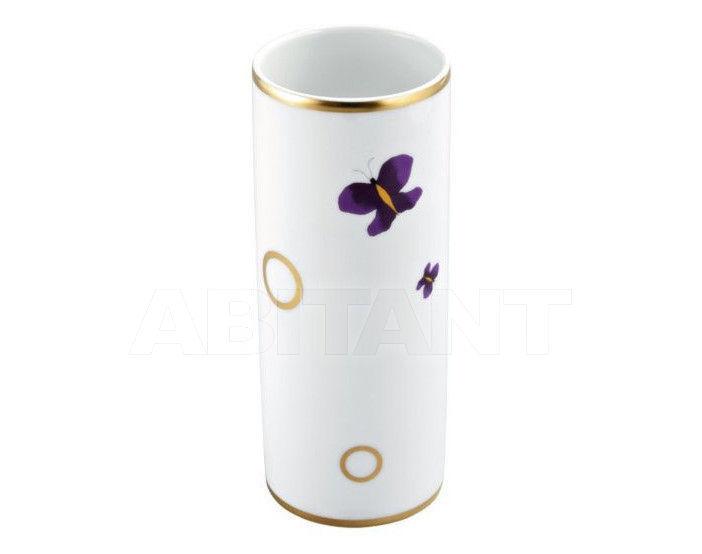 Купить Стакан для зубных щеток THG Bathroom A7D.4609 Capucine mauve butterfly gold decor