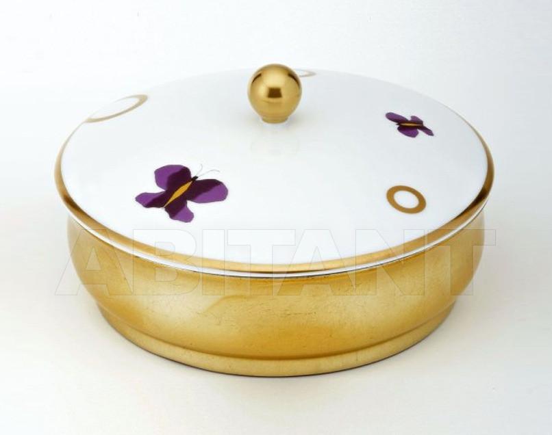 Купить Шкатулка THG Bathroom A7D.4623 Capucine mauve butterfly gold decor