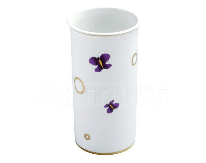 Купить Стакан для зубных щеток THG Bathroom A7D.4625 Capucine mauve butterfly gold decor