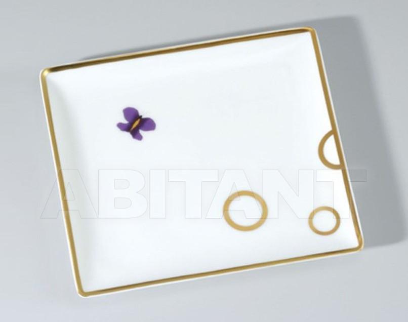 Купить Поднос THG Bathroom A7D.4613 Capucine mauve butterfly gold decor