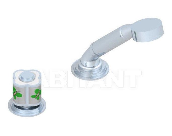 Купить Смеситель для ванны THG Bathroom A7E.6532/60A Capucine vert décor Platine