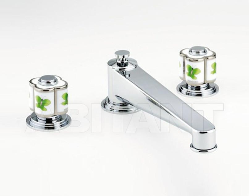 Купить Смеситель для раковины THG Bathroom A7E.25SG Capucine vert décor Platine