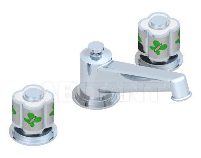 Купить Смеситель для раковины THG Bathroom A7E.152 Capucine vert décor Platine