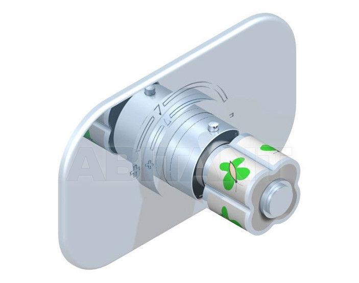 Купить Смеситель термостатический THG Bathroom A7E.5100B Capucine vert décor Platine