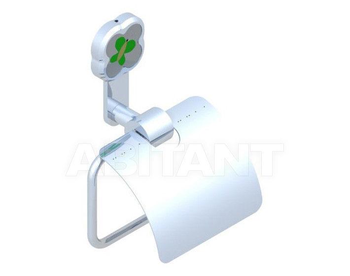 Купить Держатель для туалетной бумаги THG Bathroom A7E.538AC Capucine vert décor Platine