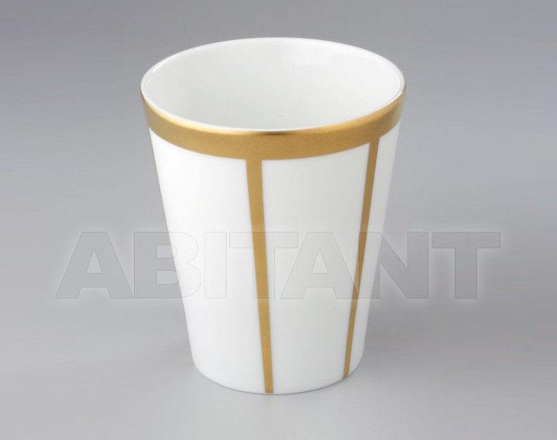 Купить Стакан для зубных щеток THG Bathroom A7A.4608 Ithaque gold decor