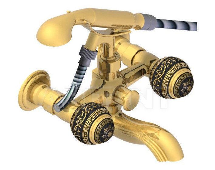 Купить Смеситель для ванны THG Bathroom A7F.13B Marquise gold decor