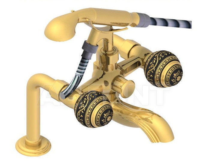 Купить Смеситель для ванны THG Bathroom A7F.13G Marquise gold decor
