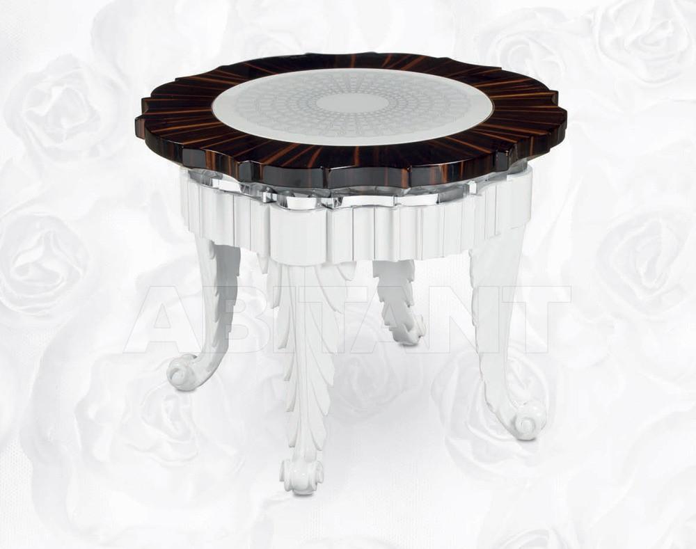 Купить Столик кофейный Isacco Agostoni Contemporary 1349 SMALL ROUND SIDE TABLE ebony top