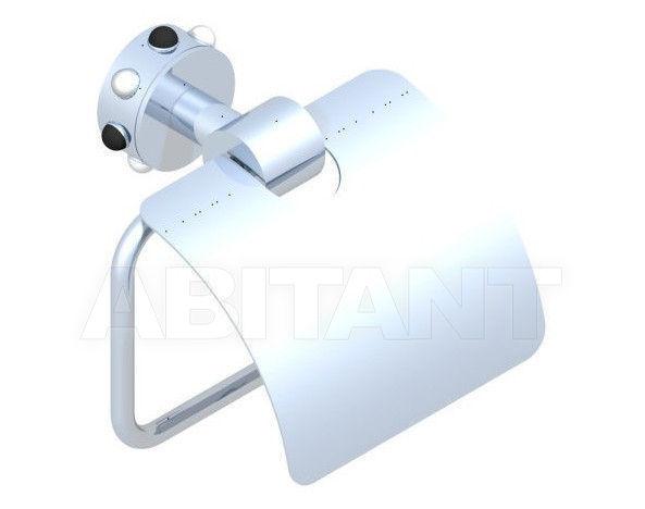 Купить Держатель для туалетной бумаги THG Bathroom A2W.538AC Mossi clear crystal & black onyx