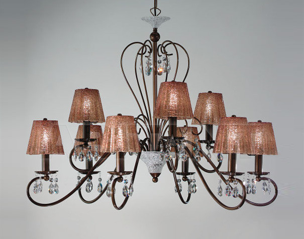 Купить Люстра IDL Export Classic Light & Style 301/6+3 BROWN