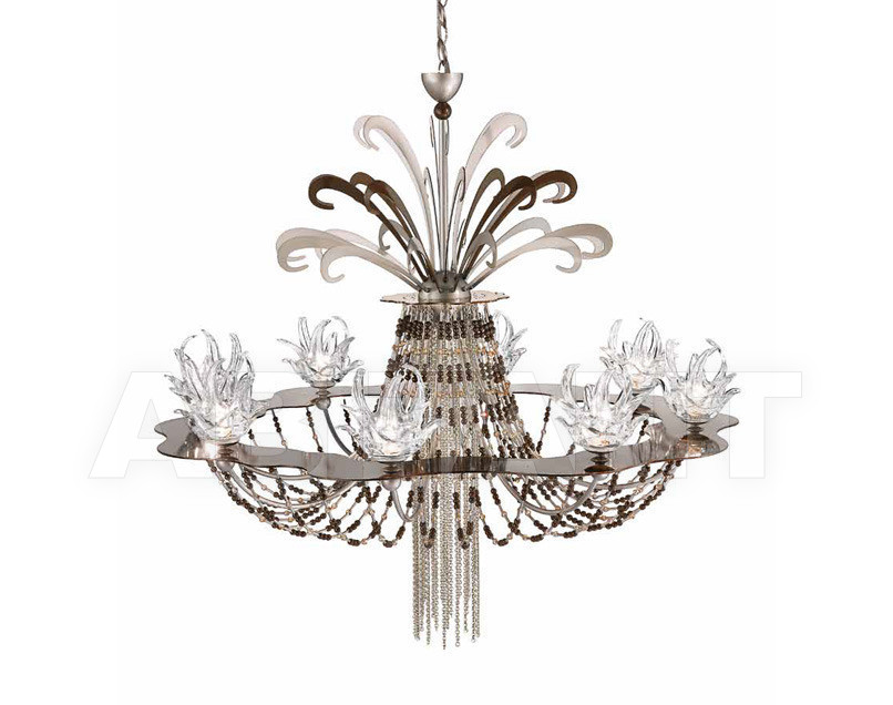 Купить Люстра IDL Export Dolce Vita Luxury Lighting 450/8+1 Nickel Chocolate