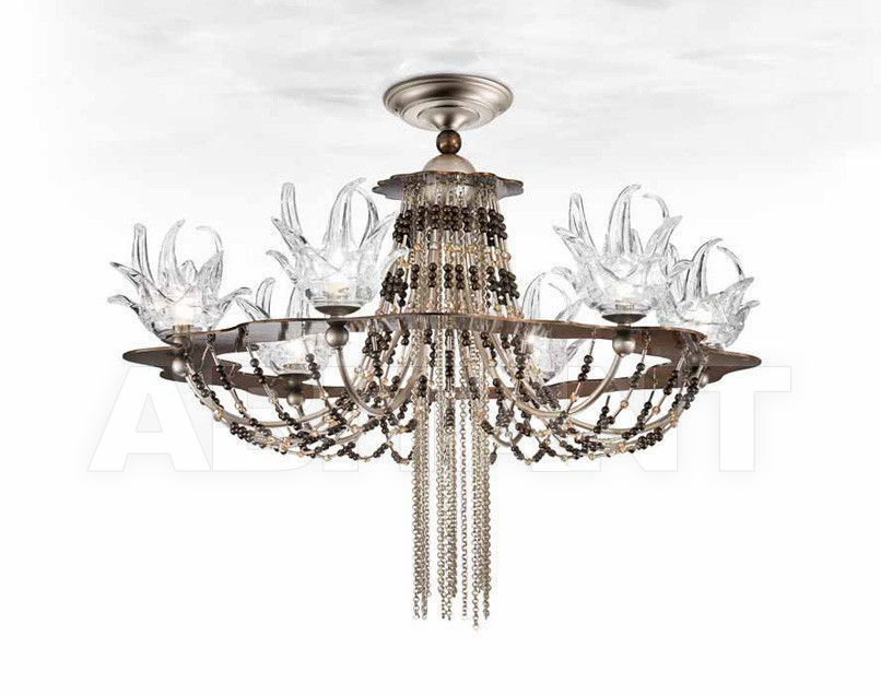 Купить Люстра IDL Export Dolce Vita Luxury Lighting 450/6+1PF Nickel Chocolate